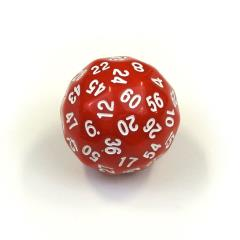 d60 Red w/White