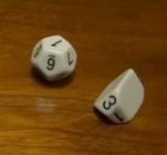 Recast 2d6 - White w/Black (2)