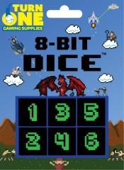 d6 8-Bit Dice - Monochrome (6)