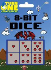 d6 8-Bit Dice - Hearts (6)