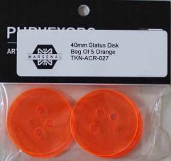 40mm Status Discs - Orange