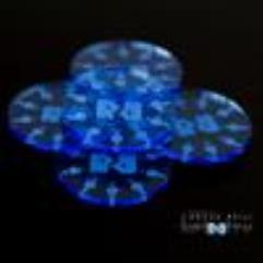 Mini Smoke Trimplates - Blue