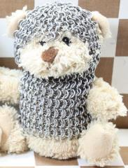 Teddy Bear in Chainmail Battle Armor - Cream