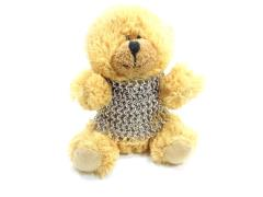Teddy Bear in Chainmail Battle Armor - Fluffy & Tan