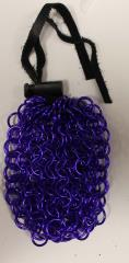 Aluminum Chainmail Dice Bag - Purple (Small)