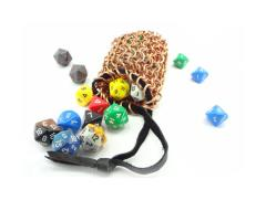 Copper Chainmail Dice Bag - Standard Weave