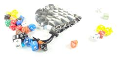 Aluminum Scalemail Dice Bag - Silver (Small)