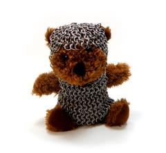 Teddy Bear in Chainmail Battle Armor - Brown