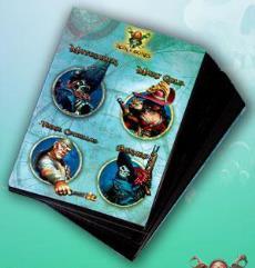 Game Cards #3 - Matusalen, Mary Gold, Vinnie Cuchillas, Bonard