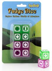 Fudge Dice Set - Translucent Green & Purple (8)