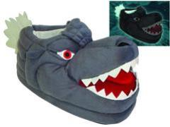 Godzilla Plush Slippers - Glow in the Dark