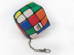 Rubik's Cube Plush Keychain