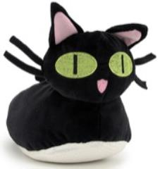 Kuro Neko Plush Slippers