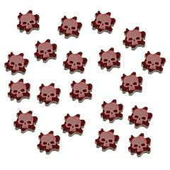 Flesh Wound Tokens, Translucent Red