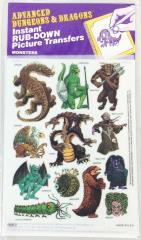 AD&D Rub Down Transfers - Monsters