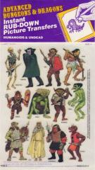 AD&D Rub Down Transfers - Humanoids and Undead