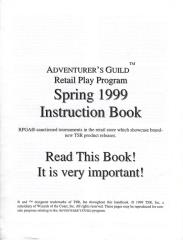 Series #6 - Adventurer's Guild Retail Play Instruction Book, Spring 1999