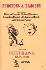Supplement #1 - Greyhawk (9th-10th Printings)