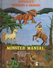 Monster Manual (1st Cover, 3rd Alpha Printing w/Red Fly Leaf)