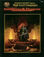 Dungeon Master's Option - High Level Campaigns (2nd Printing)