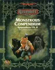 Monstrous Compendium Ravenloft Appendices #1 & #2