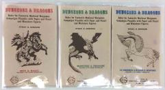 Dungeons & Dragons Woodgrain Rulebook Collection - Complete 3rd Printing Rules Set!