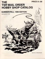 1986 Summer/Fall TSR Mail Order Hobby Shop Catalog