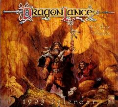 1993 Dragonlance and Otherworlds Calendar