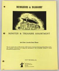 Monster & Treasure Assortment Set #1 - Levels 1-3 (2nd Printing, Lizard Logo)