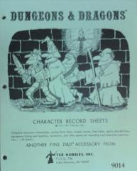 Character Record Sheets (Pad Edition, 3rd Printing)