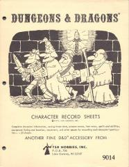 Character Record Sheets (1979 Pad Edition w/1977 Copyright Date)