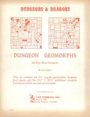 Dungeon Geomorphs Set #1 - Basic Dungeon (1st Printing)