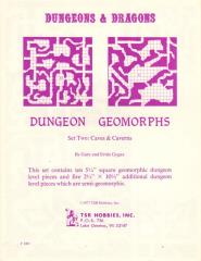Dungeon Geomorphs Set #2 - Caves and Caverns (1st Printing)