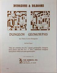 Dungeon Geomorphs Set #3 - Lower Dungeons (1st Printing)