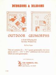 Outdoor Geomorphs Set #1 - Walled City (1st Printing, Lizard Logo)