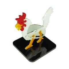 "2"" Square Base - Giant Chicken/Character Mount Marker - White"