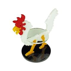 40mm Round Base - Giant Chicken/Character Mount Marker - White