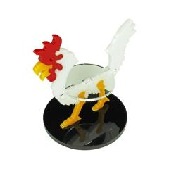 50mm Round Base - Giant Chicken/Character Mount Marker - White