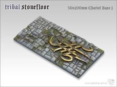 50x100mm Chariot Base #1 - Tribal Stone Floor