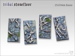 25x50mm Cavalry Base - Tribal Stone Floor
