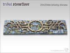 20mm Square Infantry Diorama Base - Tribal Stone Floor