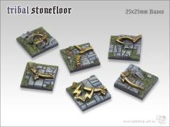 25mm Square Infantry Base - Tribal Stone Floor