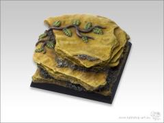 40mm Square Special Monster Base - Shale Ground