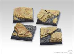40mm Square Monster Base - Shale Ground