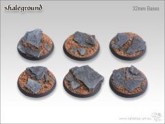 32mm Round Base - Shale Ground