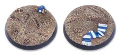 40mm Round Base - Muddy Pitch Base