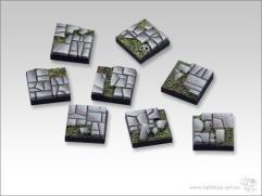 20mm Square Infantry Base - Stone Floor