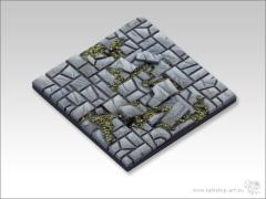 50mm Square Monster Base - Stone Floor