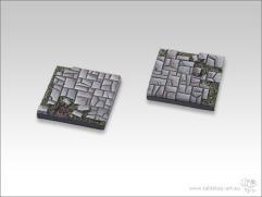 40mm Square Monster Base - Stone Floor