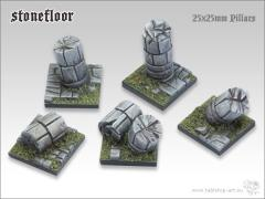 25mm Square Base w/Pillar - Stone Floor